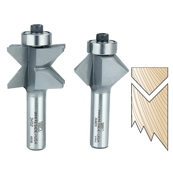 WHITESIDE #3400 EDGE BANDING ROUTER BIT SET