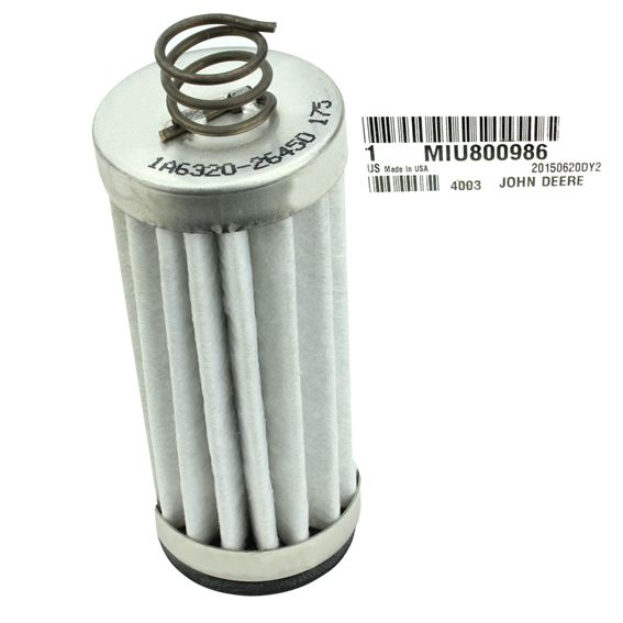 JOHN DEERE #MIU800986 TRANSAXLE OIL FILTER ELEMENT