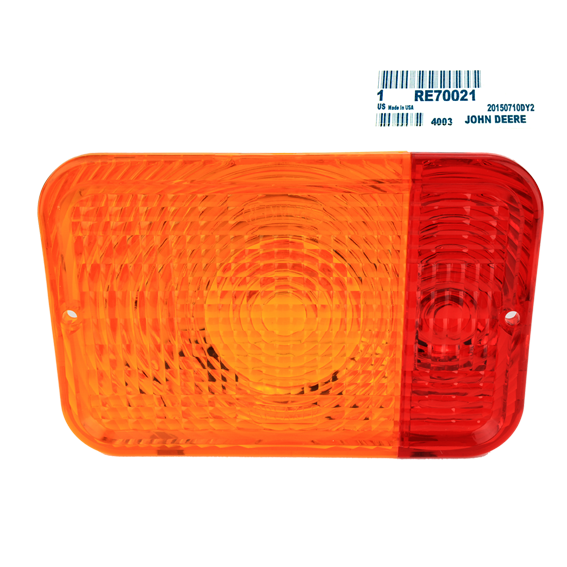 JOHN DEERE #RE70021 RED / AMBER LENS