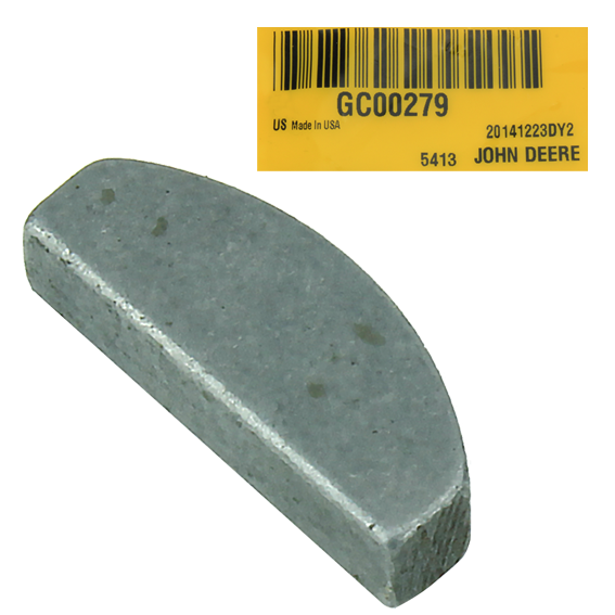 JOHN DEERE #GC00279 SHAFT KEY