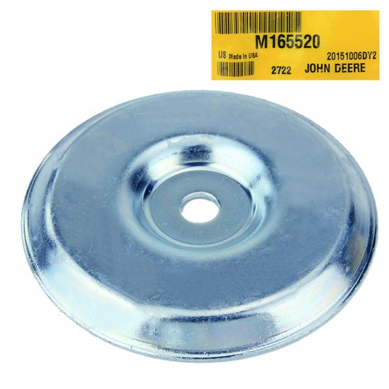 JOHN DEERE #M165520 IDLER PULLEY SHIELD