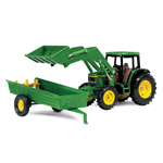 Ertl John Deere 1:64 Scale M6 6210 Tractor With Loader and Spreader