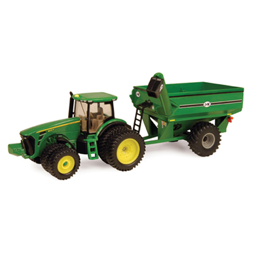 ERTL JOHN DEERE 1:64 SCALE MODEL 8320R TRACTOR WITH J & M GRAIN CART