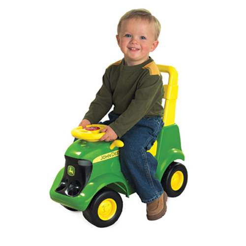 ERTL JOHN DEERE SIT-N-SCOOT ACTIVITY TRACTOR