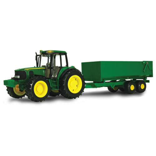 ERTL BIG FARM JOHN DEERE 1:16 SCALE TRACTOR WITH WAGON SET