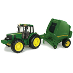 Ertl Big Farm 1:16 Scale John Deere Tractor & Round Baler