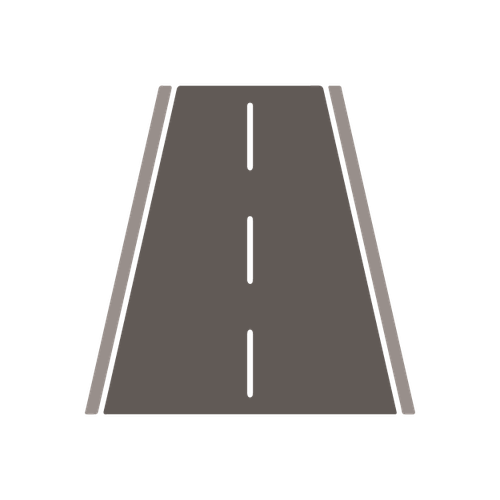 Roads bridges and footpaths illustration