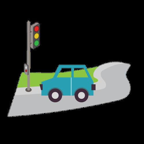 Traffic management and parking illustration