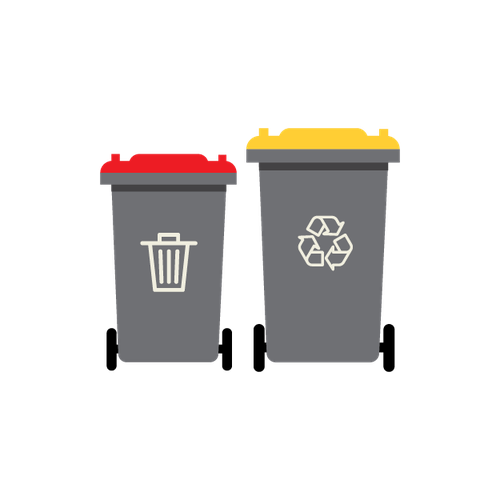 Waste and recycling collection illustration