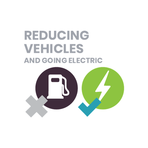 reducing the number of Council vehicles with more of them being EVs