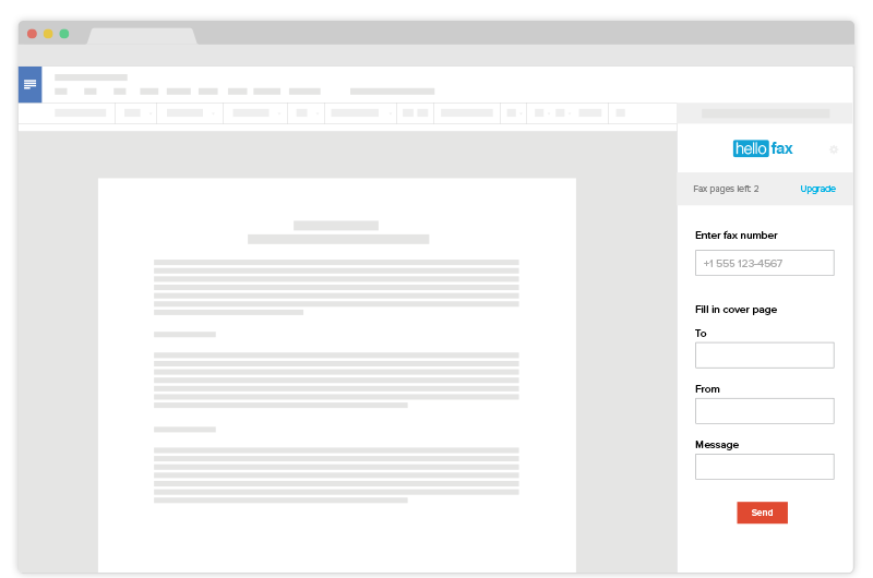 hellofax for google docs