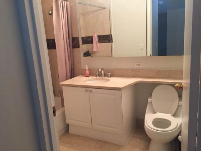 화장실입니다. 거실방쓰시는 여성분 한분과 쓰시게 될거입니다.