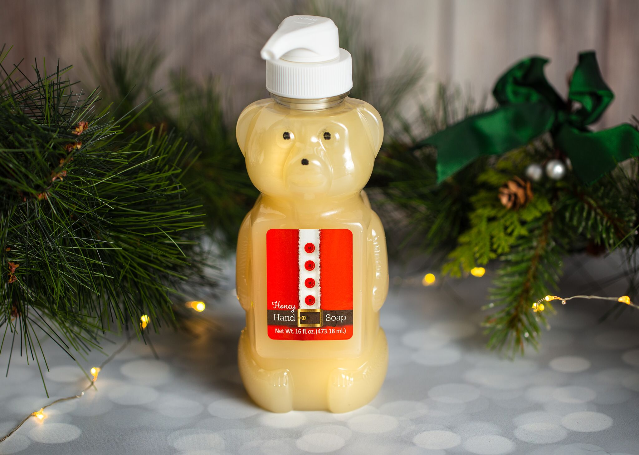 SANTA HONEY BEAR LIQUID HAND SOAP