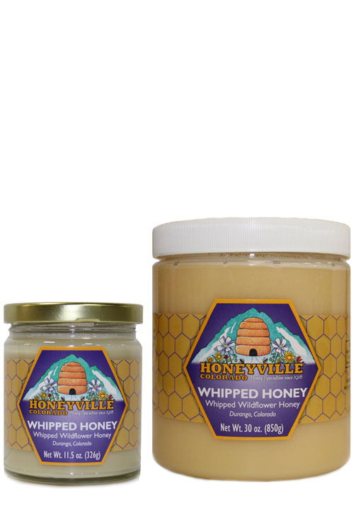 NATURAL WHIPPED HONEY - 11.5 OZ JAR