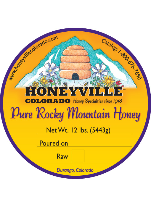 BUCKET: 12 LB HONEYVILLE HONEY