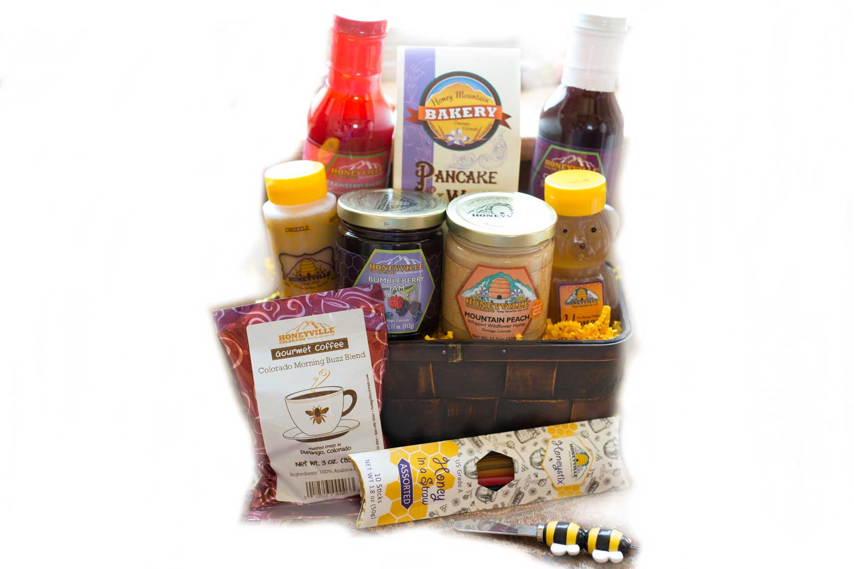 GIFT BASKET:  HONEYVILLE BREAKFAST BASKET