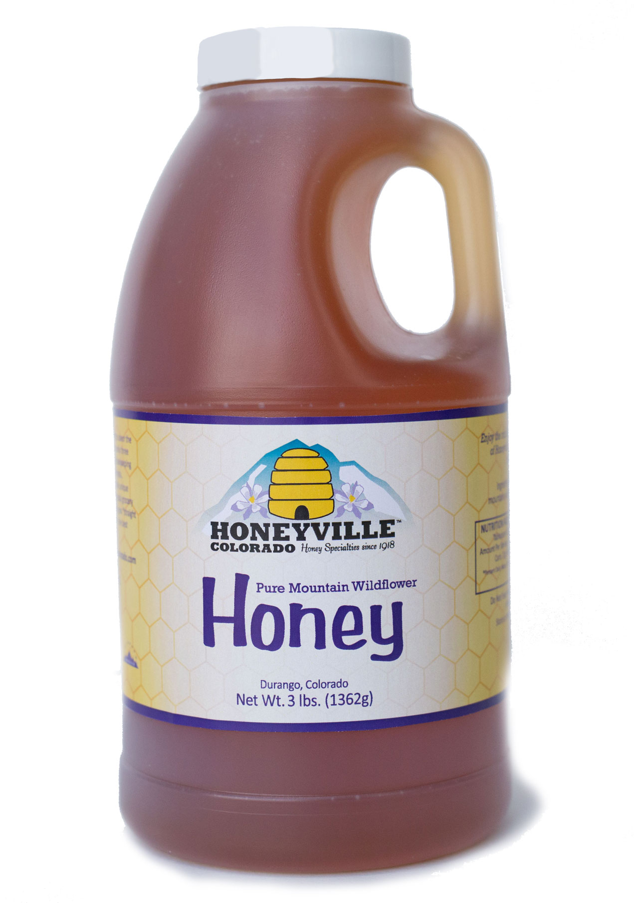 PLASTIC JUG: MOUNTAIN WILDFLOWER HONEY 3 LB