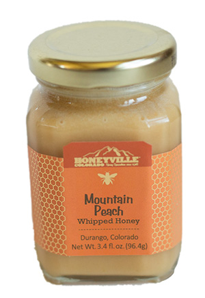 Mountain Peach Whipped Honey
