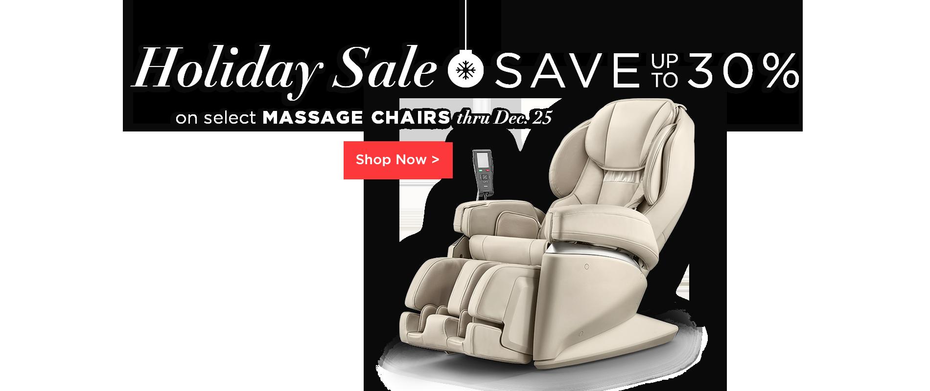 Holiday Sale - Massage Chairs