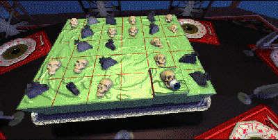 cake puzzle, skulls and gravestones puzzle, virgin interactive