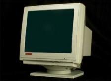 cathode ray tube, CRT monitor, mercury vapor, old school.