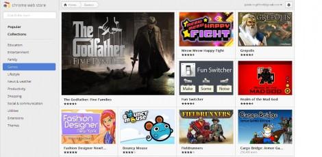 Chrome Web Store, Google Apps, Bastion, Angry Birds, Grepolis