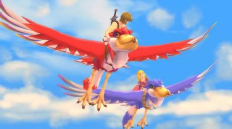 Link and Zelda on Loftwings