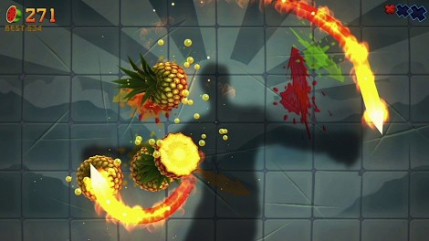 Fruit Ninja Kinect Single Player
