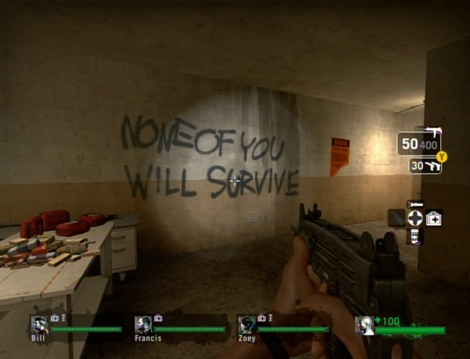 Left 4 Dead Safehouse Note