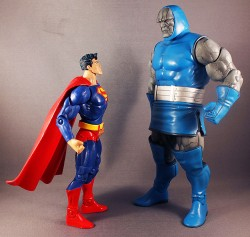 Darkseid & Superman in Action Figure form. Darkseid is HUGE.