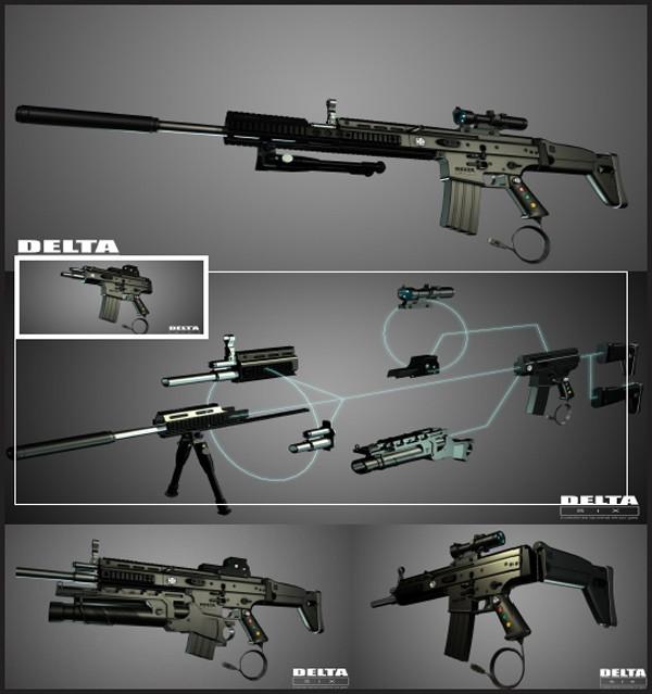 DMR, Carbine, underbarrel grenade launcher, CQB.