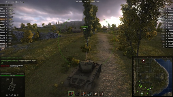 World of Tanks In Game