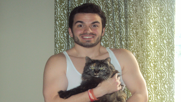My cat and me during better times.