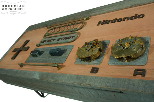 NES Steampunk Controller Coffee Table