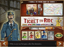 Ticket to Ride Welcome Screen