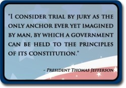Thomas Jefferson on the right to trial by jury