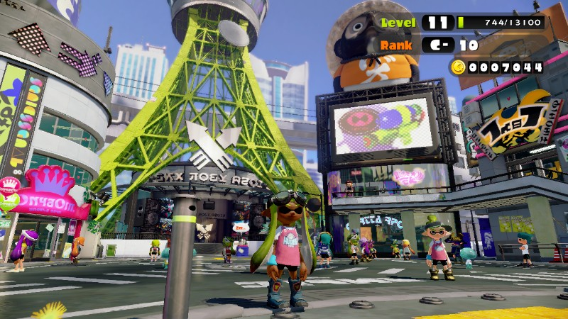 A screengrab of my inkling day-napping in the plaza
