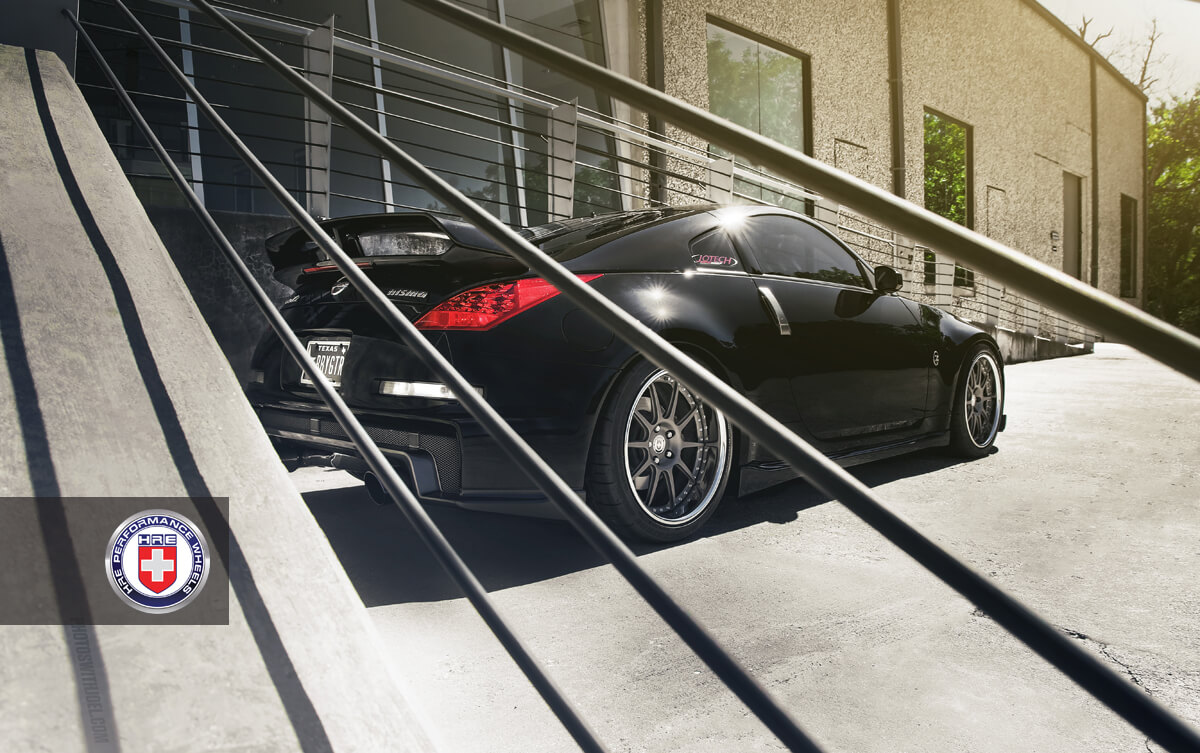 Nissan 350z With Hre 593rs In Satin Charcoal Hre Performance Wheels