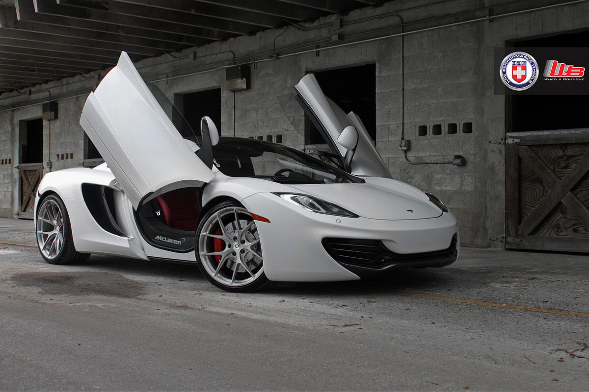 mclaren mp4-12c with hre p101 in brushed titanium   hre performance