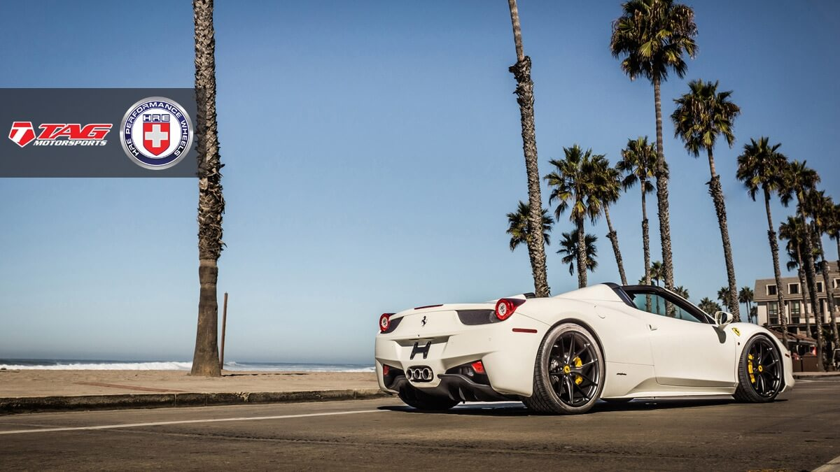 Ferrari 458 Spider With Hre P101 In Satin Black Hre Performance Wheels