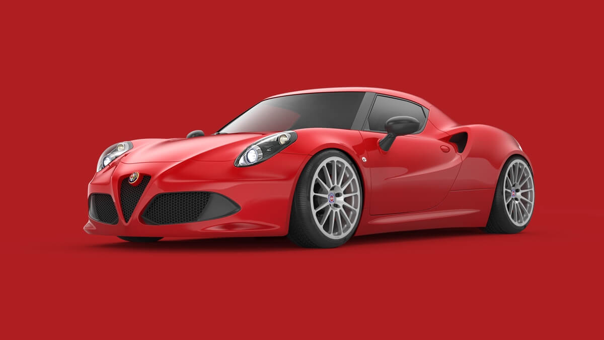 Alfa Romeo 4c With Hre 303m In Naked Silver Performance Wheels