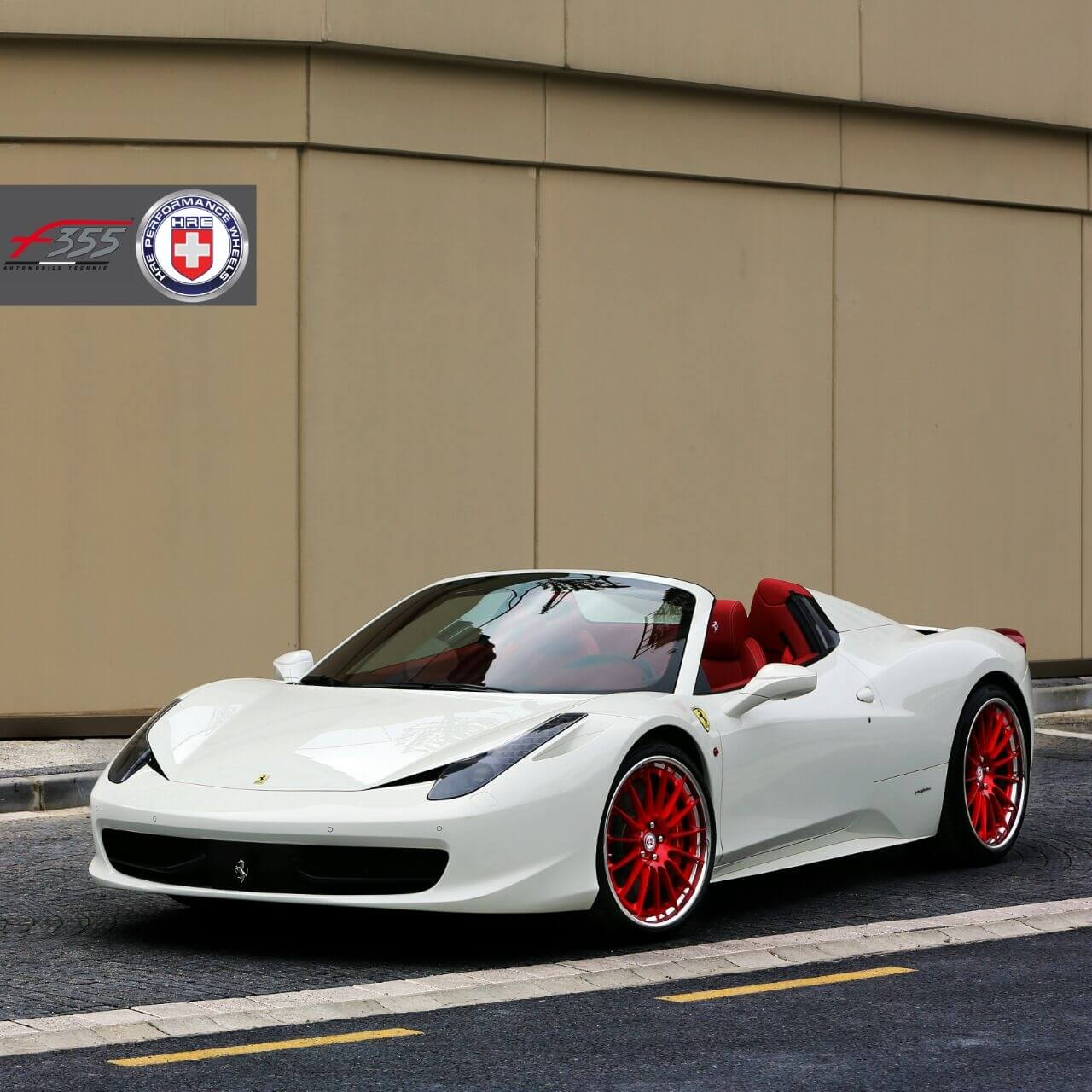 Ferrari 458 Spider With Hre Rs103 In Brushed Red Hre Performance