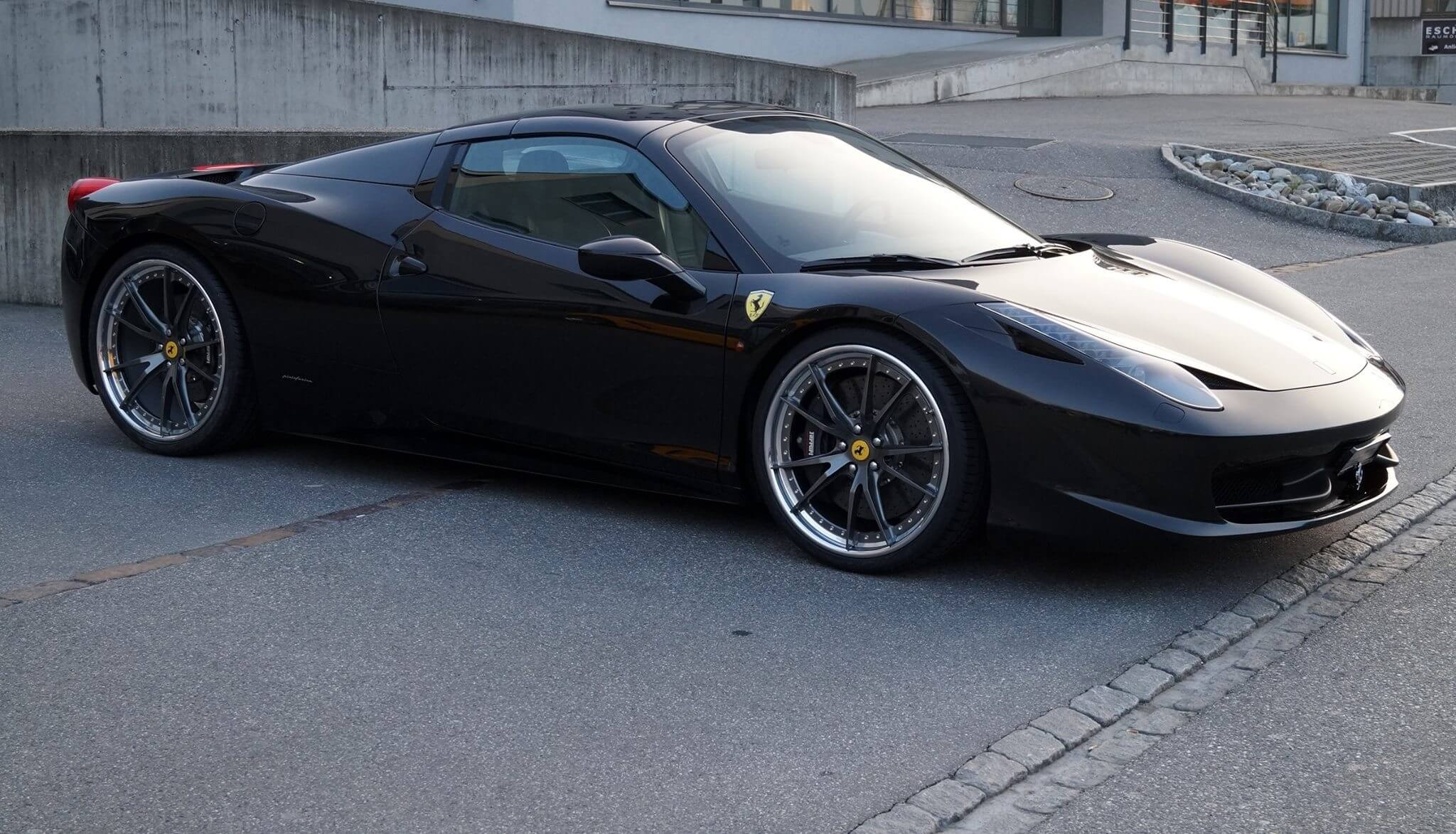 Ferrari 458 Spider With Hre S104 In Gloss Charcoal Hre Performance