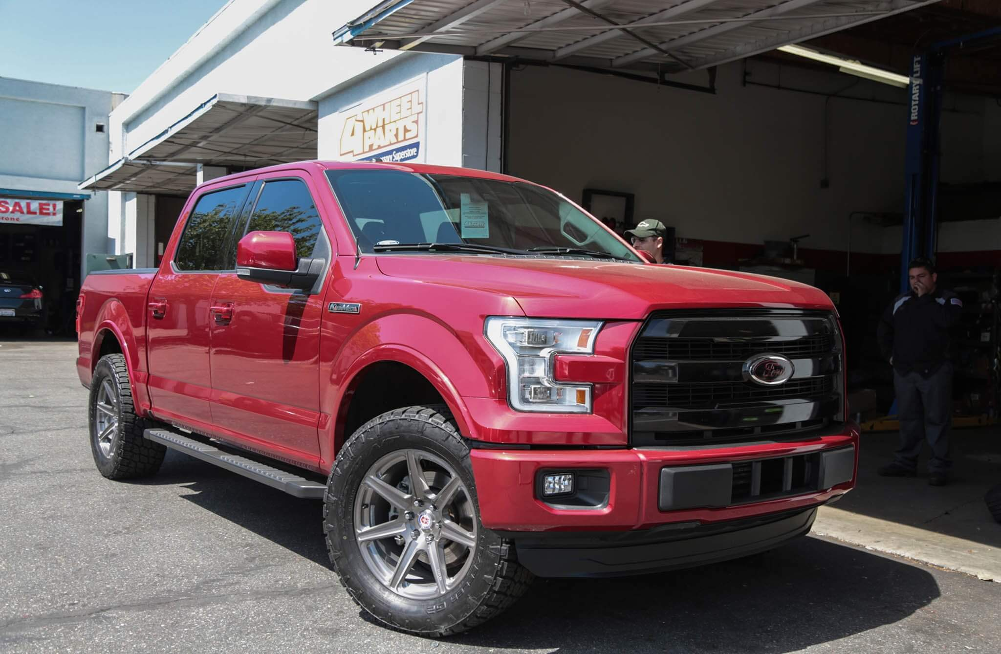 Ford F 150 with HRE TR107 in Brushed Dark Clear