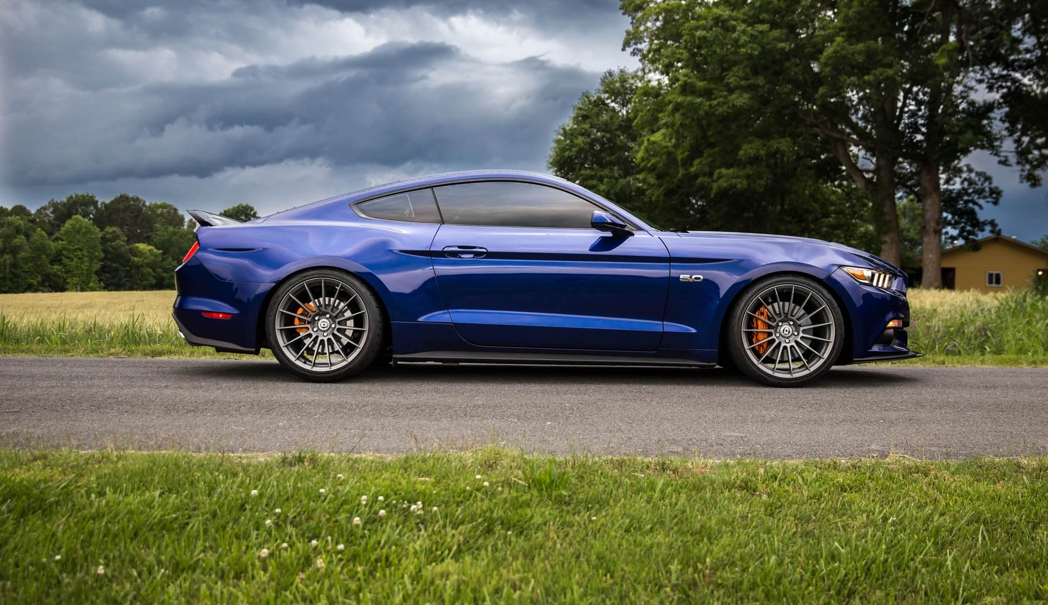 Ford mustang s550 with ff15 in fog hre performance wheels
