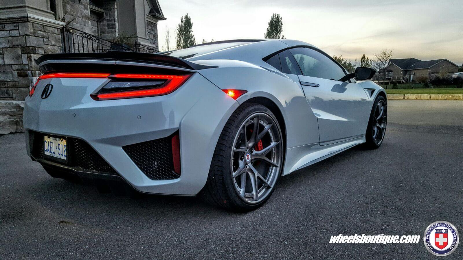 acura nsx with hre s101 in brushed dark clear hre performance wheels