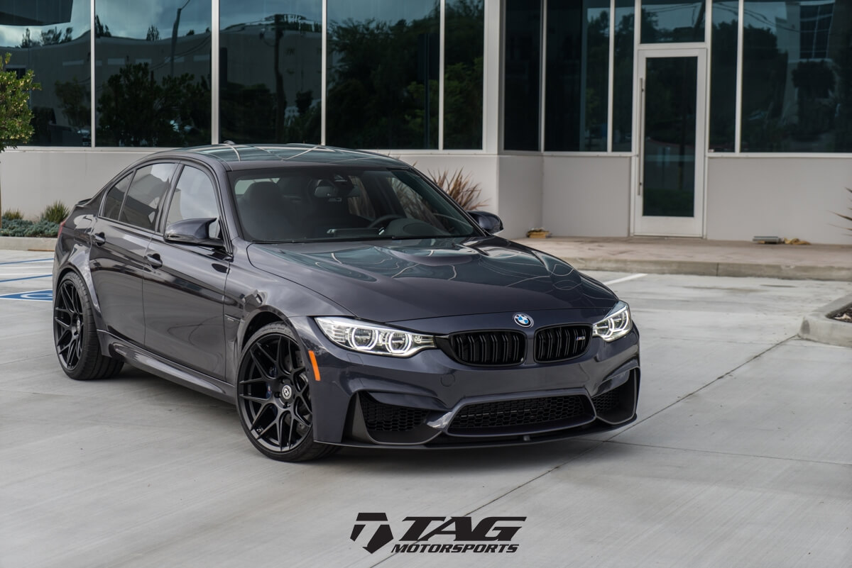 Mineral Grey Bmw M3 With Ff01 In Tarmac Hre Performance Wheels