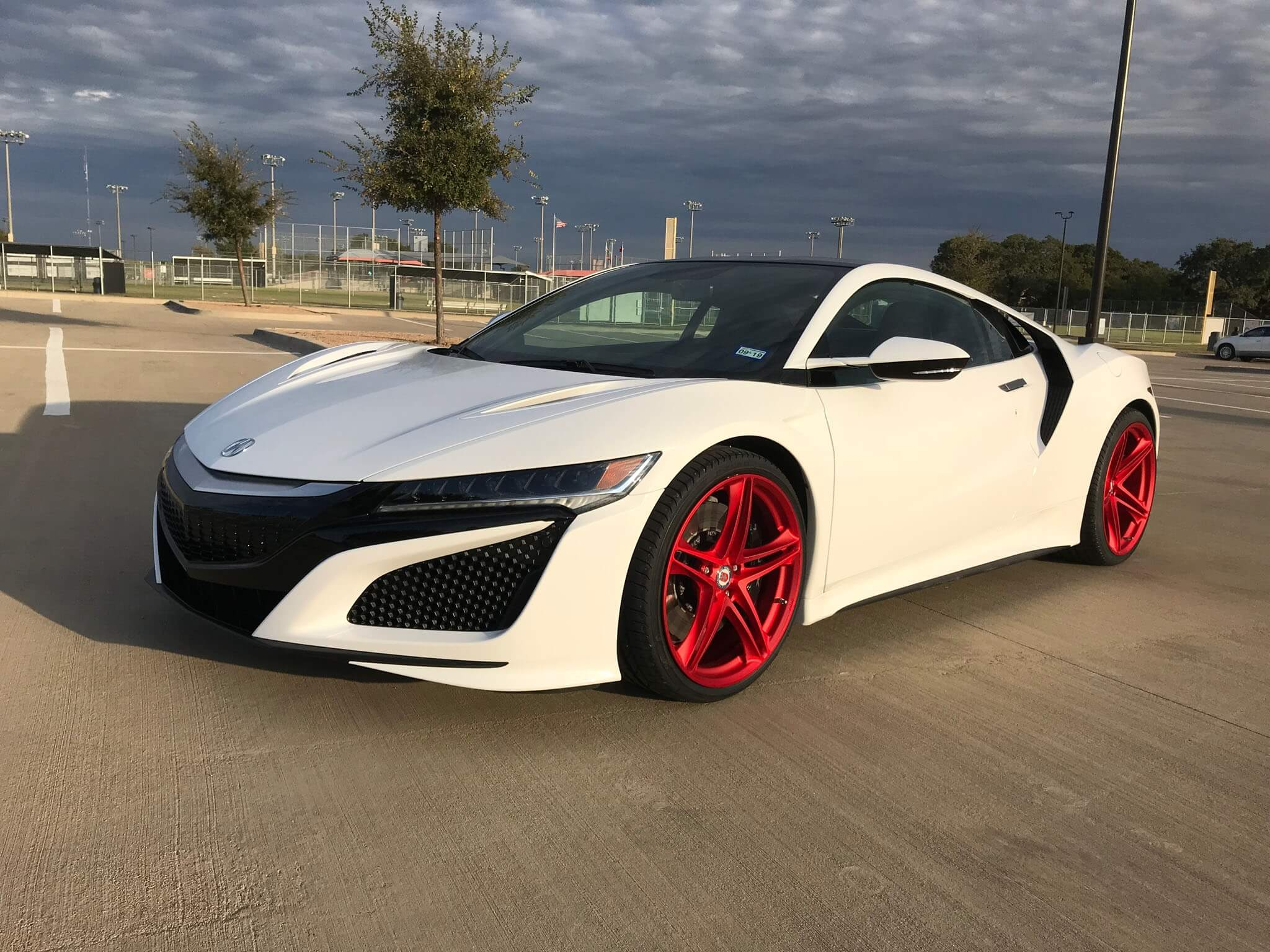 acura nsx with hre p207 in frozen red hre performance wheels