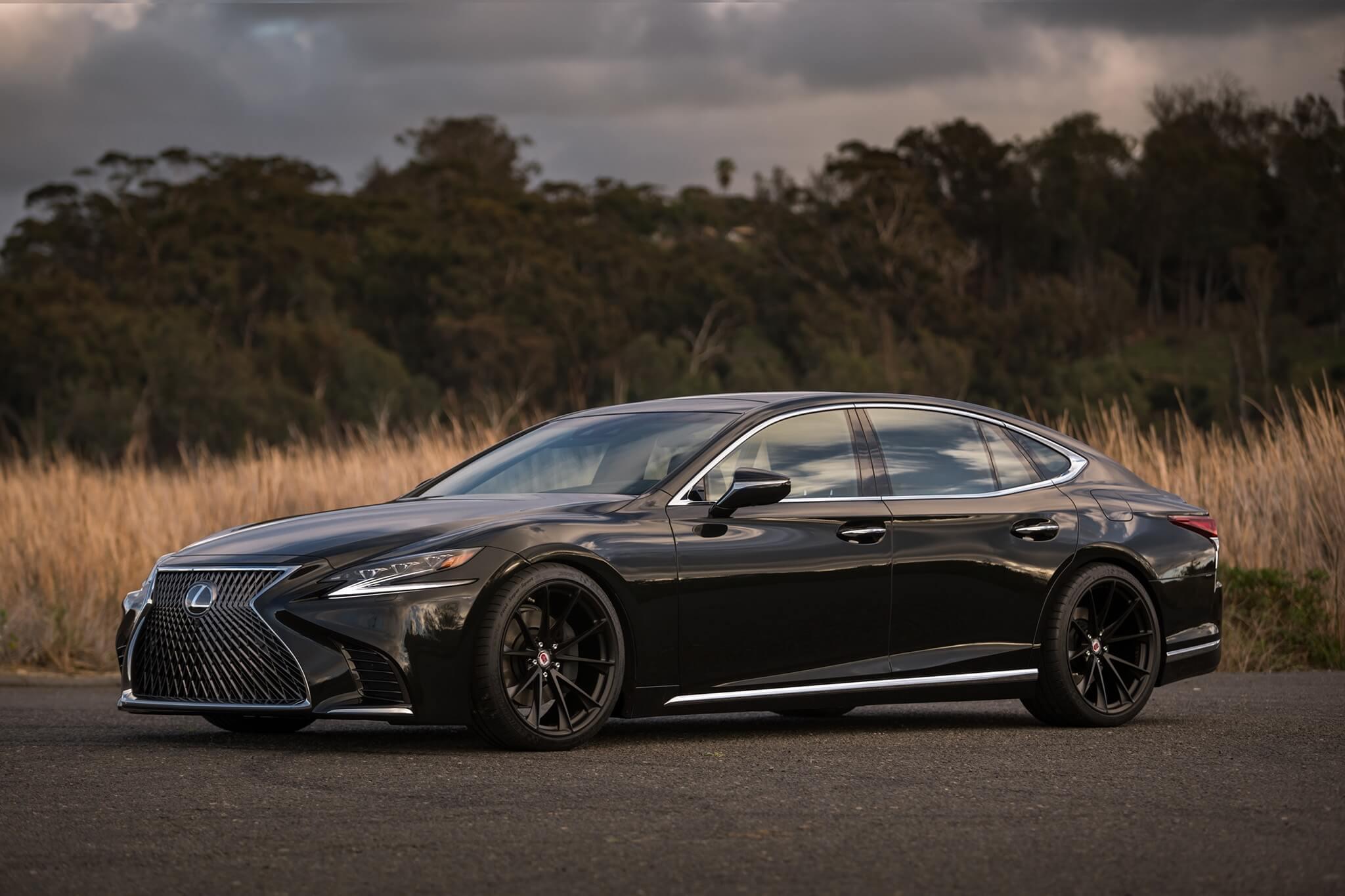 Lexus Ls 500 With Hre P204 In Satin Black Hre Performance Wheels