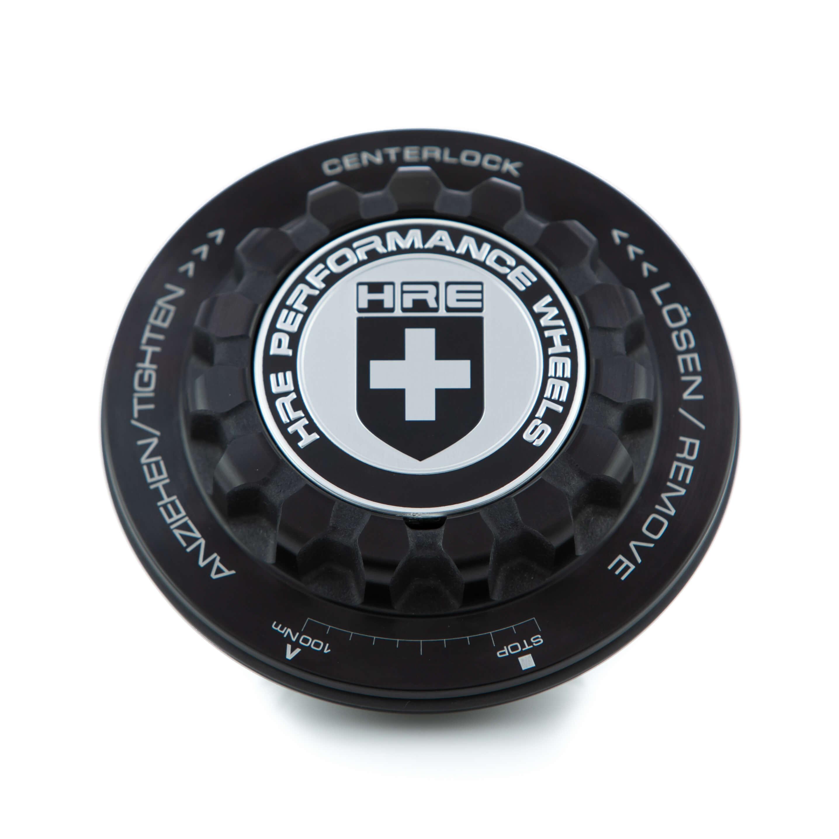 Center Lock Caps - Classic Black/Gray | HRE Performance Wheels